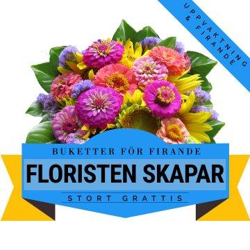 En bukett för fest och firande! Låt floristen skapa - ett alternativ hos Florister i Sverige.
