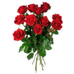 Ett dussin röda rosor. Beställ ditt blomsterbud hos Florister i Sverige. Gör pappa glad med ett fång röda rosor!